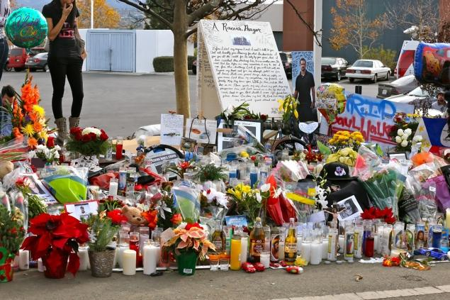 Пол Уокер. Похороны. Фото