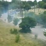 Видео. В Краснодон вошла колонна танков с российскими флагами
